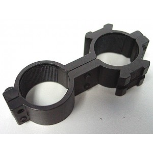 25mm Dual Hole Laser Sight Flashlight Scope Ring Mount