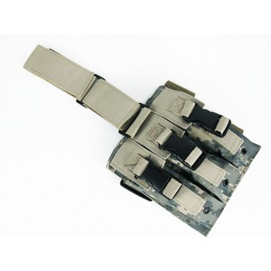 Triple MP5 Magazine Drop Leg Pouch Digital ACU Camo