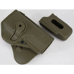 IMI Style Beretta PX4 RH Pistol Paddle Holster w/Mag Pouch Tan