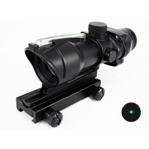 ACOG Type Optical Fiber Green Illuminated Dot Sight Scope
