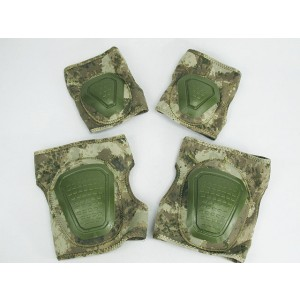 Airsoft Neoprene Knee & Elbow Pads Set A-TACS Camo