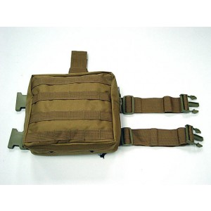 Molle Drop Leg Panel Utility Waist Pouch Bag Coyote Brown
