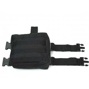 Molle Drop Leg Panel Utility Waist Pouch Bag Black
