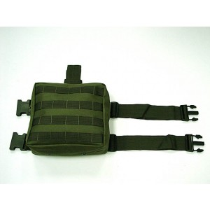 Molle Drop Leg Panel Utility Waist Pouch Bag OD