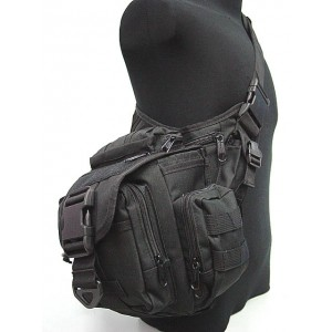 Tactical Utility Shoulder Pack Carrier Bag Black
