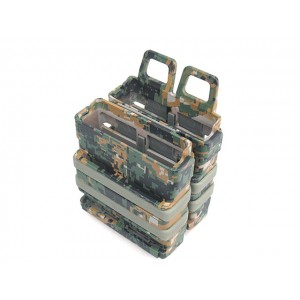 Molle FastMag Magazine Clip Set for 7.62 AK/M14 Marpat Woodland