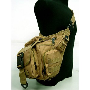 Tactical Utility Shoulder Pack Carrier Bag Coyote Brown