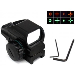 1x22x33 Multi 4 Reticle Red/Green Dot Sight Reflex