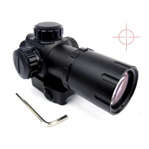 1x30 Airsoft Red Dot Cross Reticle Sight Scope QD Mount