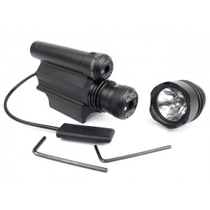 Tactical Pistol 65Lm Xenon Flashlight & Red/Green Laser Combo