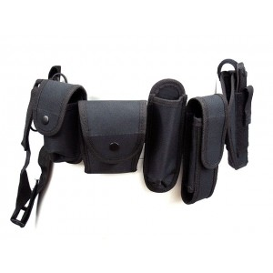 Modular Pouch Holder Police Security Duty Belt w/ Holster #B