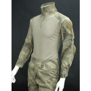 EMERSON Combat Shirt & Pants A-TACS Camo w/ Elbow & Knee Pads