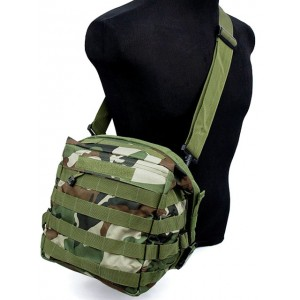 Molle Tactical Utility Gear Shoulder Bag Camo Woodland