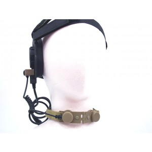 Z Tactical Throat Mic for Bowman EVO III Headset Tan - Z045