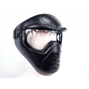 APS Heavy Duty Face Mask with Anti-Fog Lens Black