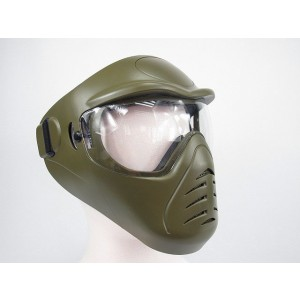 APS Heavy Duty Face Mask with Anti-Fog Lens Olive Drab OD