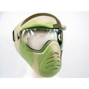 APS Heavy Duty Face Mask with Anti-Fog Lens Desert Camo