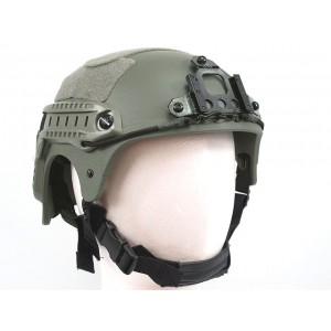 IBH Helmet with NVG Mount & Side Rail Foliage Green