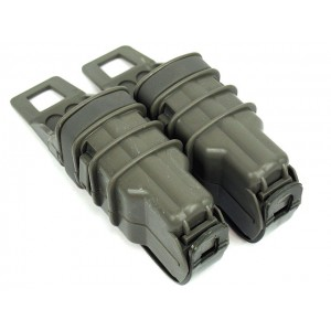 Molle FastMag Magazine Clip Set for Pistol/MP5 Foliage Green
