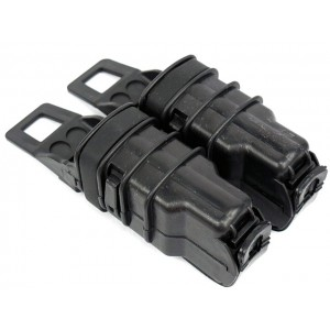Molle FastMag Magazine Clip Set for Pistol/MP5 Black