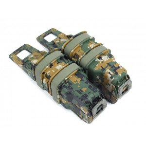 Molle FastMag Magazine Clip Set for Pistol/MP5 Marpat Woodland
