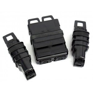 Molle FastMag Magazine Clip Set for M4/Pistol/MP5 Black