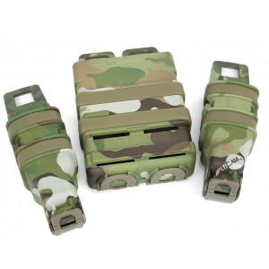 Molle FastMag Magazine Clip Set for M4/Pistol/MP5 Multi Camo