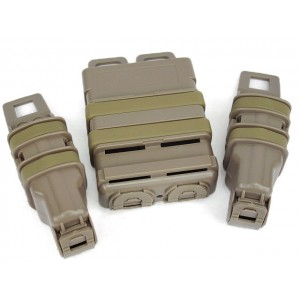 Molle FastMag Magazine Clip Set for M4/Pistol/MP5 Tan
