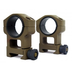 Spartan Doctine 25mm/30mm High QD Scope Ring Mount Tan