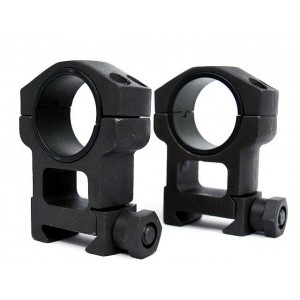 Spartan Doctine 25mm/30mm High QD Scope Ring Mount Black