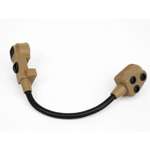 Z Tactical Light Microphone for Bowman Evo III Headset Tan