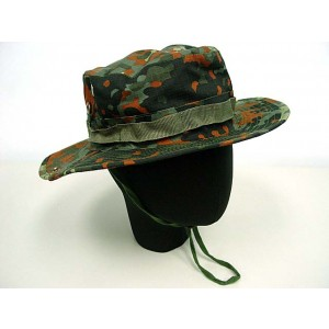 MIL-SPEC Boonie Hat Cap German Army Camo Woodland