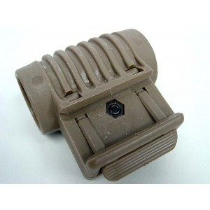 "Element Tactical 1"" 25mm RIS Flashlight Laser QD Side Mount Tan"