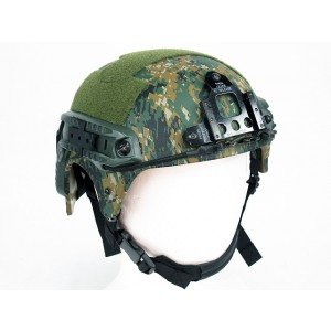 IBH Helmet with NVG Mount & Side Rail Digital Camo Woodland