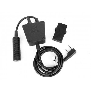 Z Tactical E-Switch Headset PTT for Kenwood 2 Pin Radio - Z122