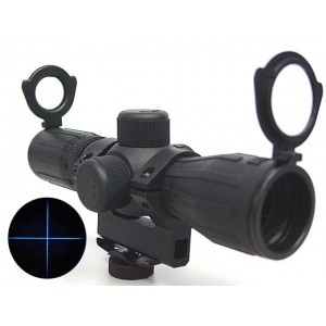 4x30 Blue Illuminated Carry Handle Rubber Rifle Scope