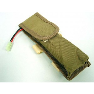 AEG External Large Battery Pouch Bag Pack Coyote Brown