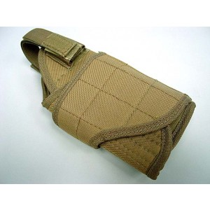 Molle Handgun Pistol Belt RH Holster Coyote Brown