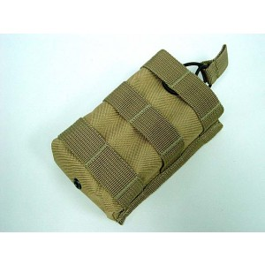 Molle Open Top Magazine/Walkie Talkie Pouch Coyote Brown