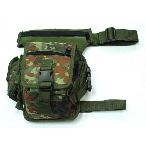 Drop Leg Utility Waist Pouch Carrier Bag German Camo Woodland