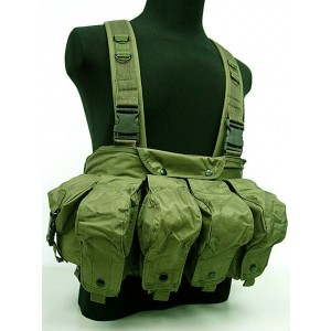 AK Magazine Chest Rig Carry Vest OD