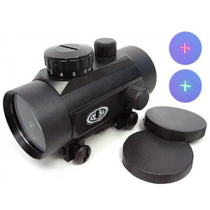 45mm Red/Green Dot Sight Cross Reticle Scope QD Mount