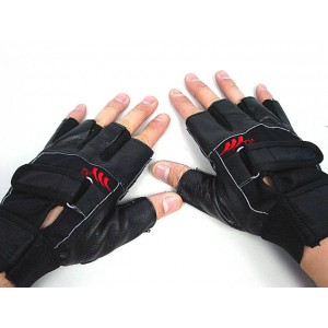 SWAT Half Finger Airsoft Non Slip Leather Combat Gloves
