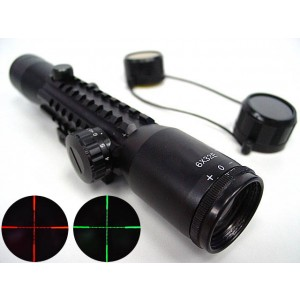 6x32 Red/Green Illuminated Mil-Dot Tri-rail Rifle Scope