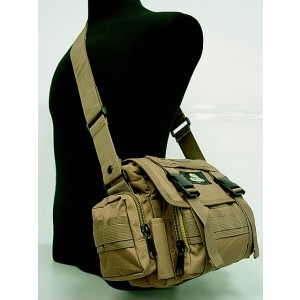 Molle Utility Shoulder Waist Pouch Bag L Coyote Brown