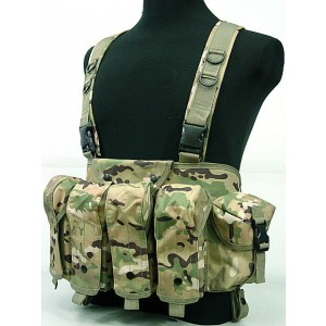 AK Magazine Chest Rig Carry Vest Multi Camo