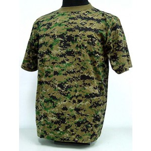 Camouflage Short Sleeve T-Shirt Digital Camo Woodland