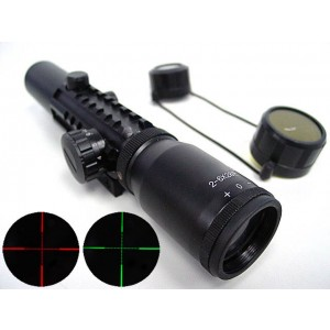 2-6x28 28mm Red/Green Illuminated Tri-rail Rifle Scope
