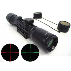2-7x32 32mm Red/Green Illuminated Tri-rail Rifle Scope
