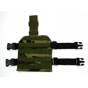Airsoft Molle Drop Leg Panel Platform Camo Woodland